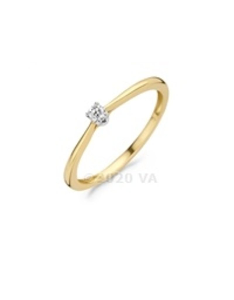 Blush 14 kt Blush Diamonds Ring 54  yellow/white gold Dia. 0.06 - 1621BDI/54