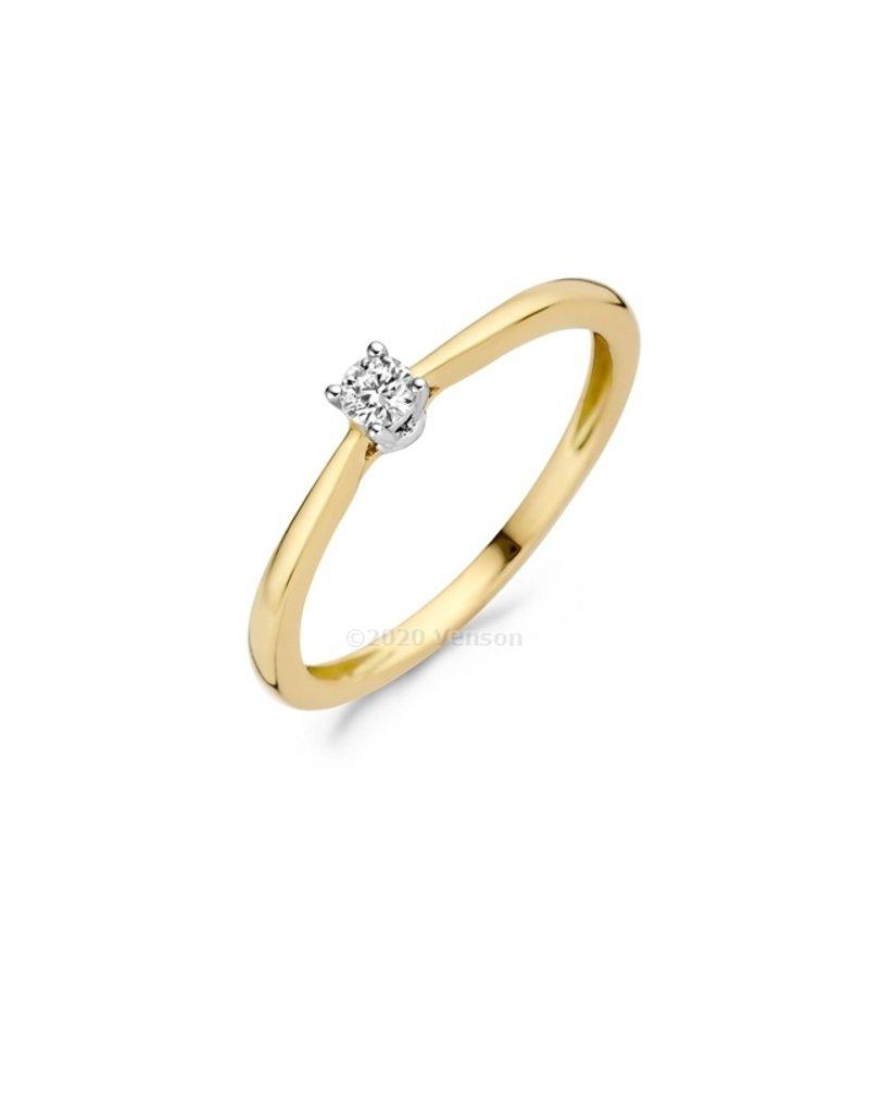 Blush 14 kt Blush Diamonds Ring 54  yellow/white gold Dia. 0.10 - 1622BDI/54