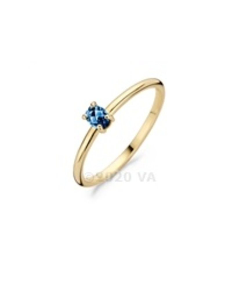 Blush 14 kt Blush Ring 52 14K yellow gold London Blue Topaz - 1204YLB/52