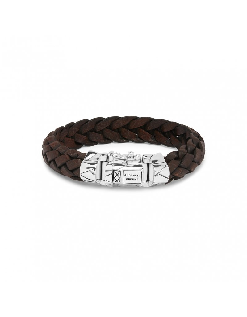 Buddha to Buddha 127BR E - Mangky  Leather Bracelet Brown - 127BR E