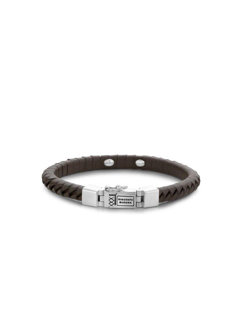 Buddha to Buddha Komang Small Leather Brown Armband - 162BR