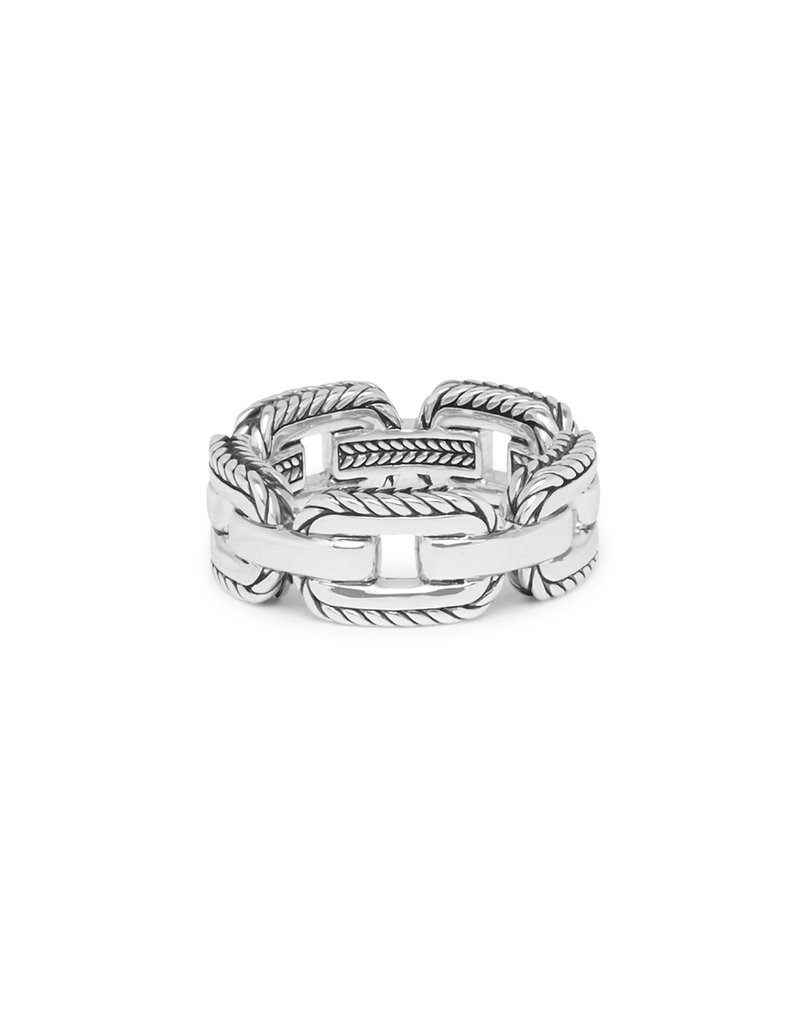 Buddha to Buddha Barbara Link Ring Silver - 118