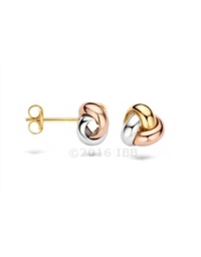 Blush 14 kt Blush Oorbellen one 14K w/y/r gold  - 7145WYR