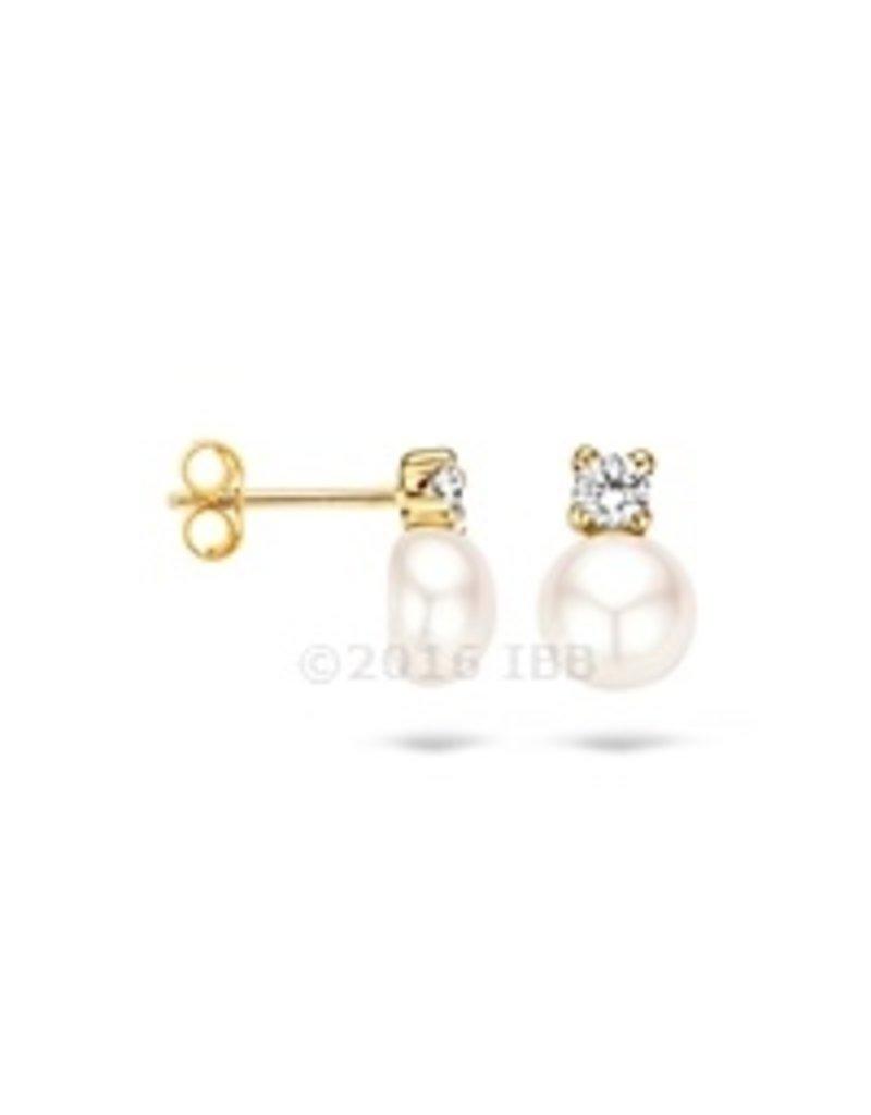 Blush 14 kt Blush Oorbellen one 14K Yellow gold Cz/Pearl - 7147YPW