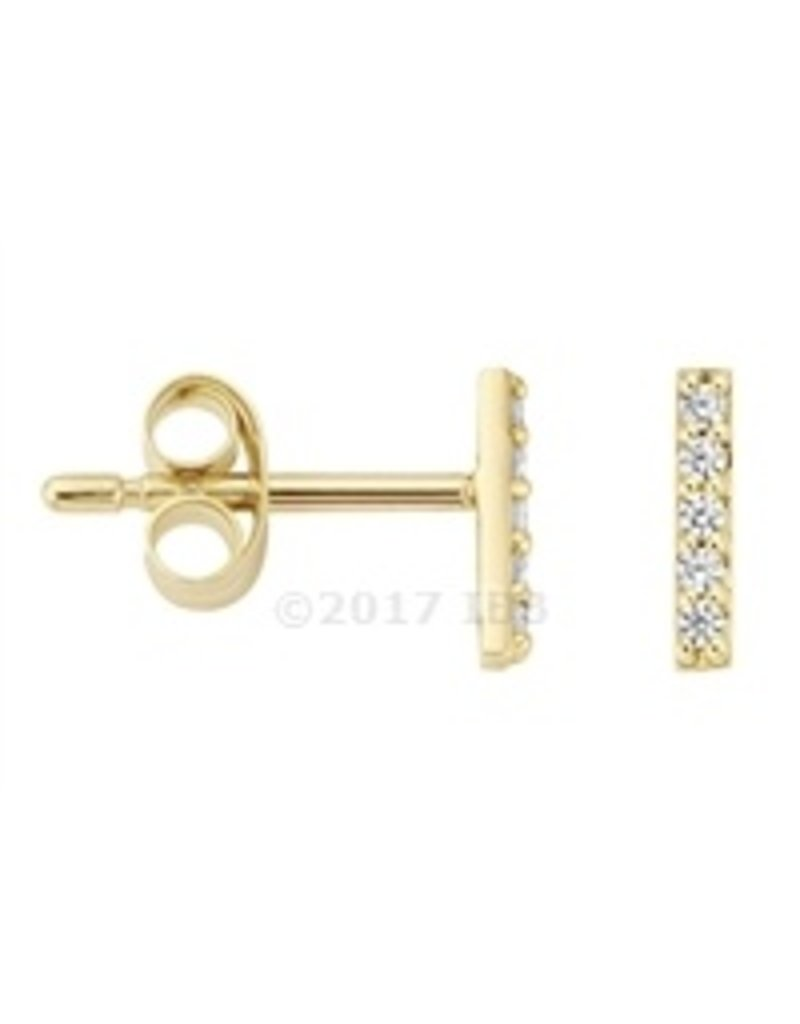 Blush 14 kt Blush Oorknoppen one 14K yellow gold Cz - 7196YZI