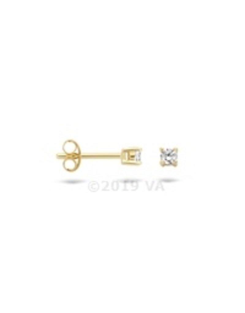 Blush 14 kt Blush Oorknoppen one 14K yellow gold Cz - 7211YZI