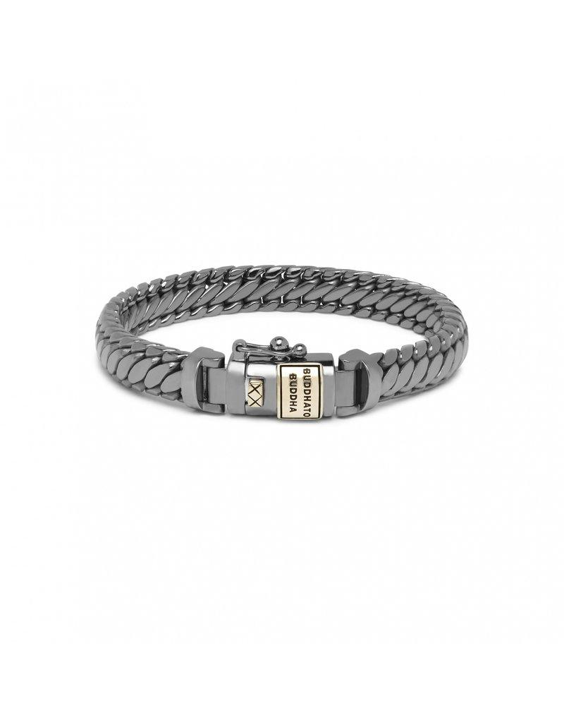 Buddha to Buddha J070BR SG E - Ben XS Bracelet Black Rhodium Shine Gold 14kt - J070BR SG E
