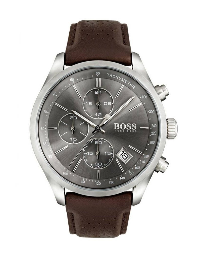Hugo Boss HB Chrono Steel Leather Brown - HB1513476