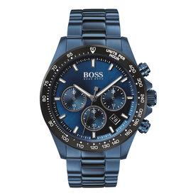 Hugo Boss HB hrn chr stl stl blauw hero - hb1513758