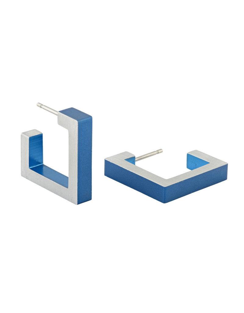 Clic Earrings Matt Blue - O11B