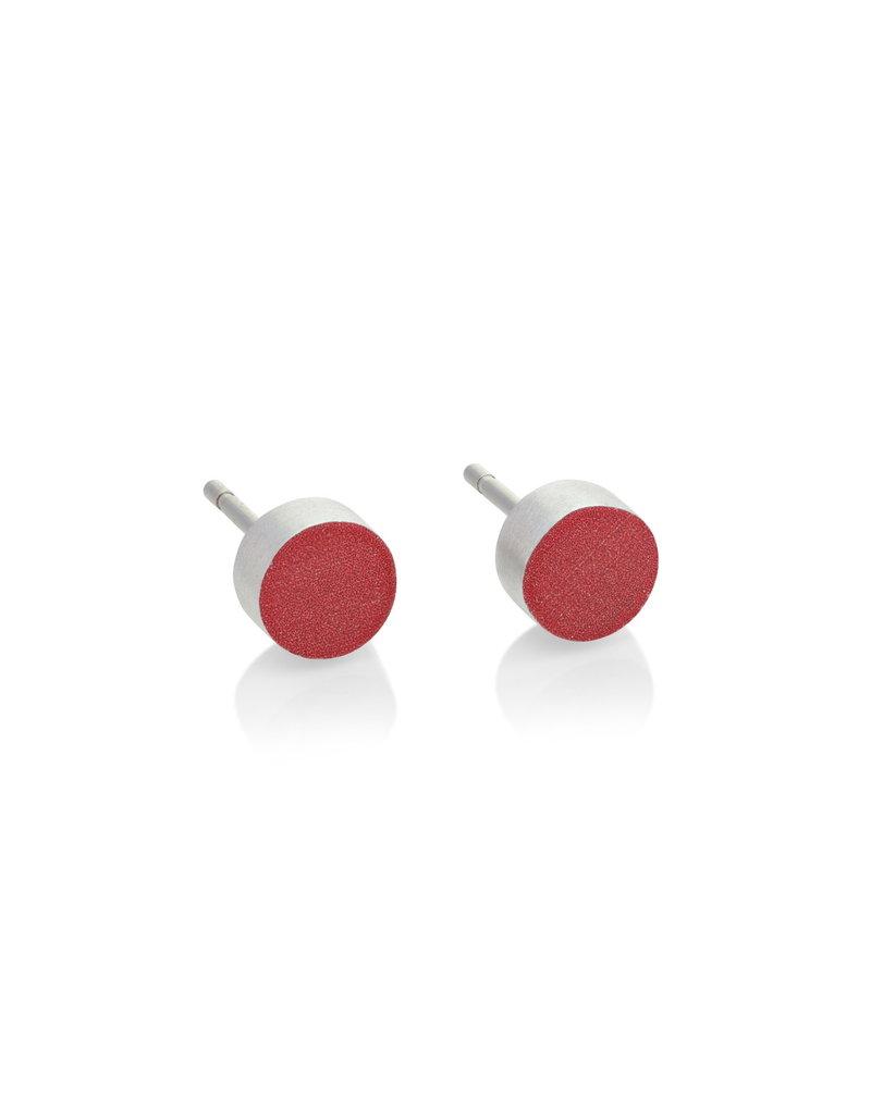 Clic Aluminium Earring Red - O36R