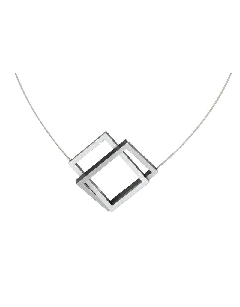 Clic Aluminium Necklace Black - C30Z