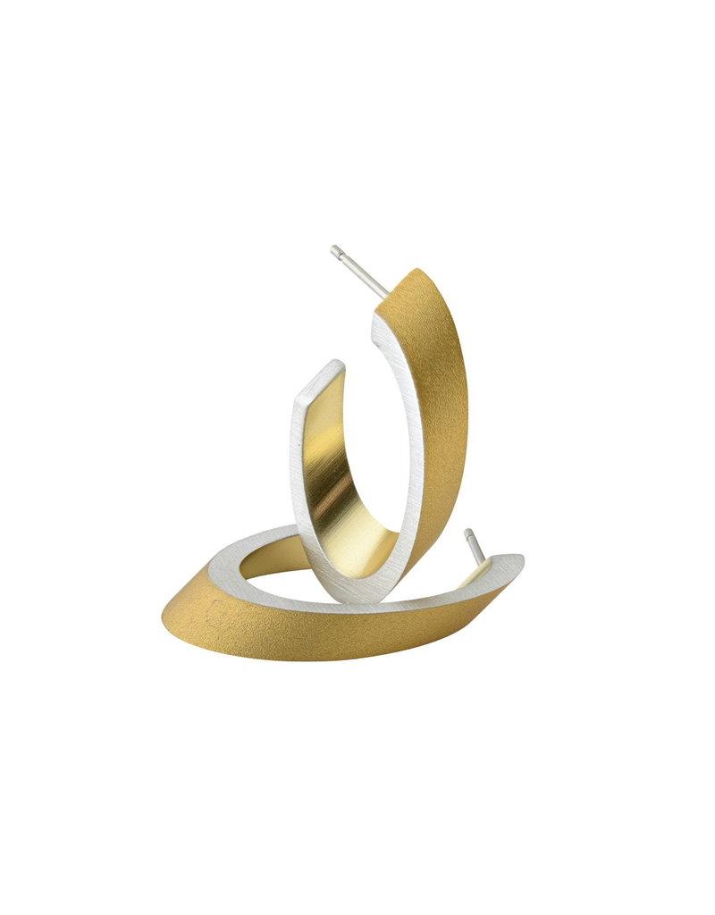 Clic Oorknoppen GOUD, creool ovaal - O21G