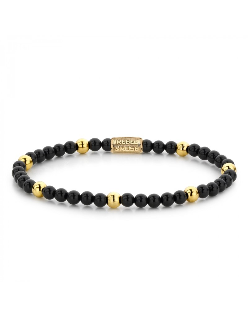 Rebel&Rose Black Panther - 4mm - yellow gold plated S - RR-40043-G-S