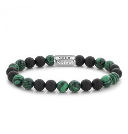 Rebel&Rose Matt Malachite Twist - 8mm M - RR-80068-S-M