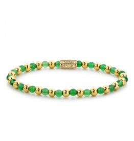 Rebel&Rose Mix Green Harmony - 4mm - yellow gold plated S - RR-40049-G-S