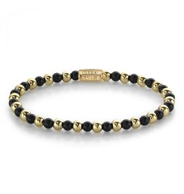 Rebel&Rose Mix Black Madonna - 4mm - yellow gold plated S - RR-40061-G-S