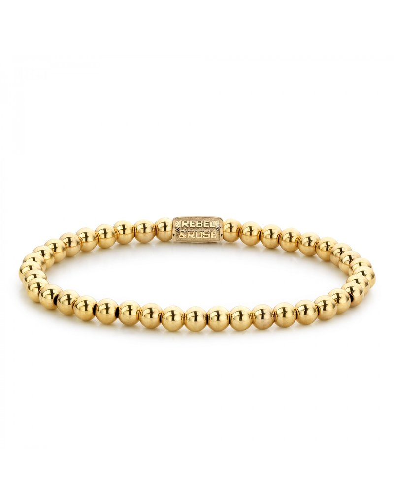 Rebel&Rose Yellow Gold Only - 4mm M - RR-40038-G-S