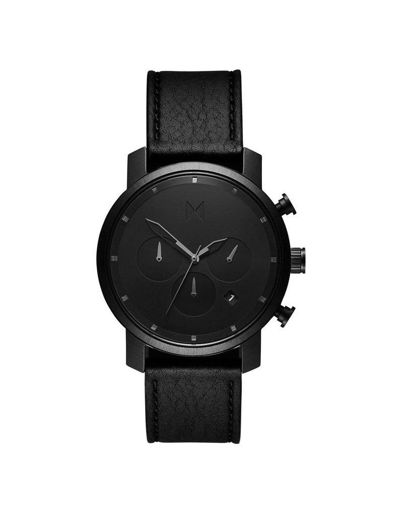 MVMT Chrono 45mm Black Leather - d-mc02-blbl