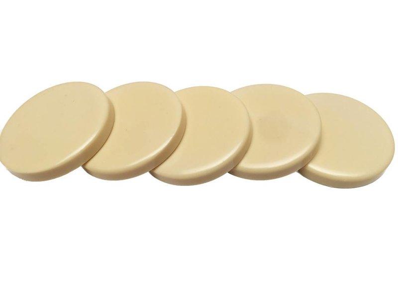 Harsblokjes Creamy White in schijfjes, 1 kg