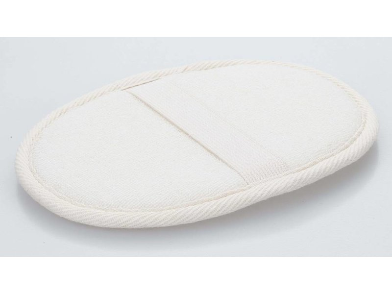 Ovale Katoenen Scrub Spons 16x12 cm
