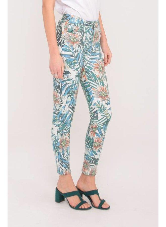 Pantalon Flowers & Leaves