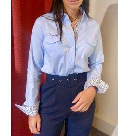 Onado Fashion Hemd Blue Flower