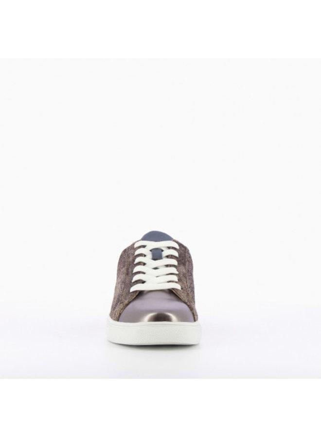 Crackled Printed Sneakers