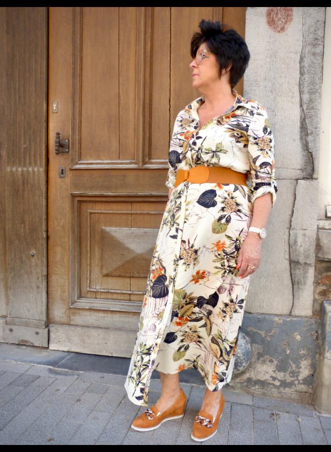 Robe d'été à imprimé floral avec boutons