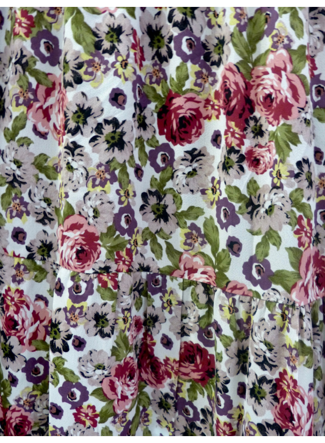Maxirok in bloemenprint