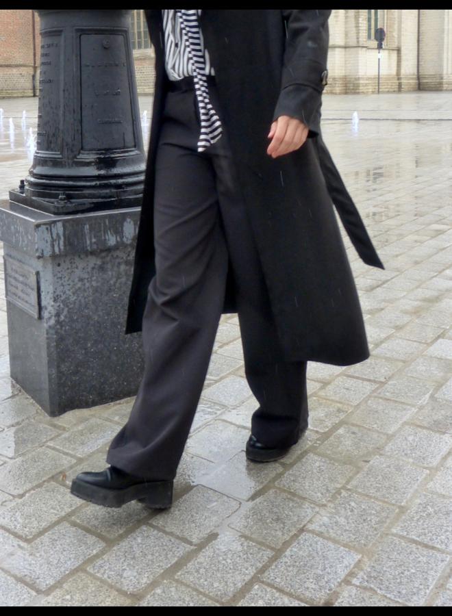 Pantalon palazzo large avec poches