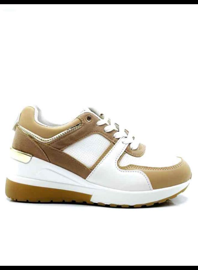 Increased sneaker (wit/camel)