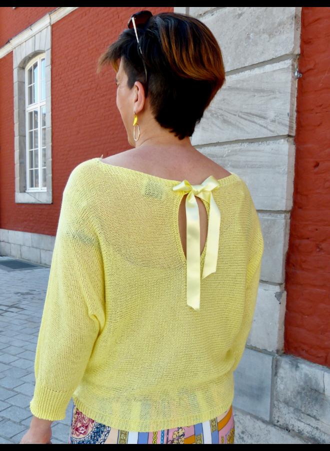 Pull Di Siena avec nœud dans le dos