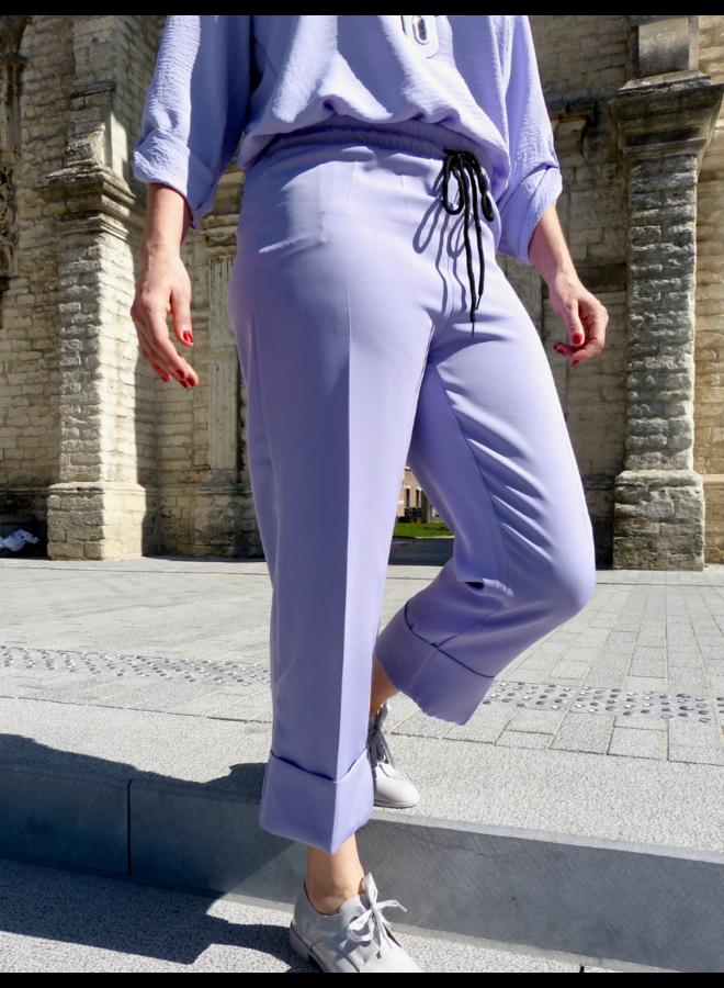 Pantalon large à revers