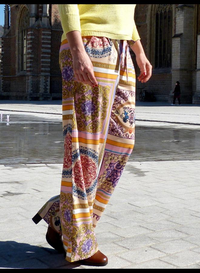 Pantalon large avec imprimé
