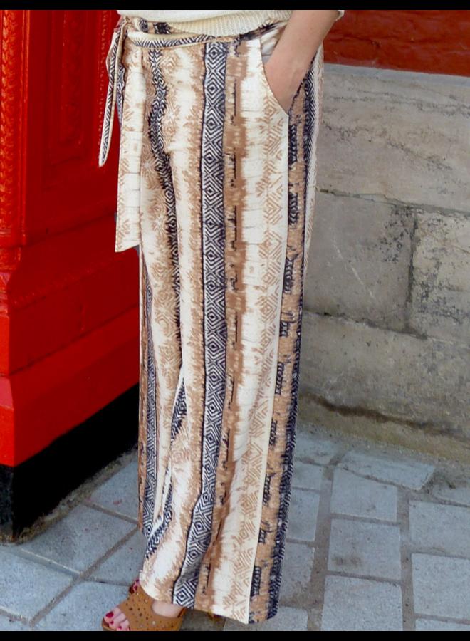 Pantalon large Desert avec ceinture