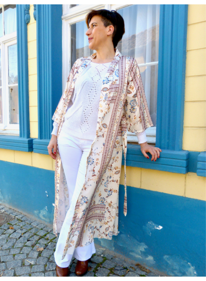 Kimono long à nouer