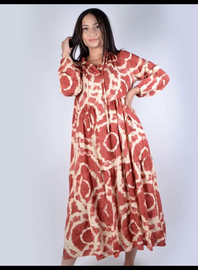 Maxi jurk met knoopjes Giuliano
