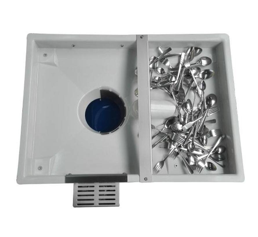 Bestekpoleermachine en bestekdroogmachine Pro TD-8000 Fill & Go