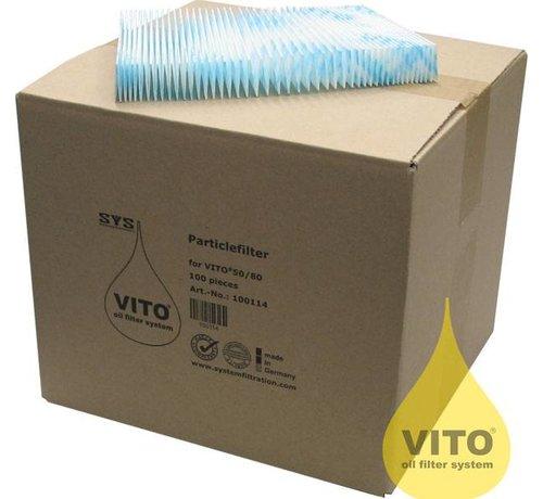 Vito Filtre a huile systeme de filtration 50 pieces