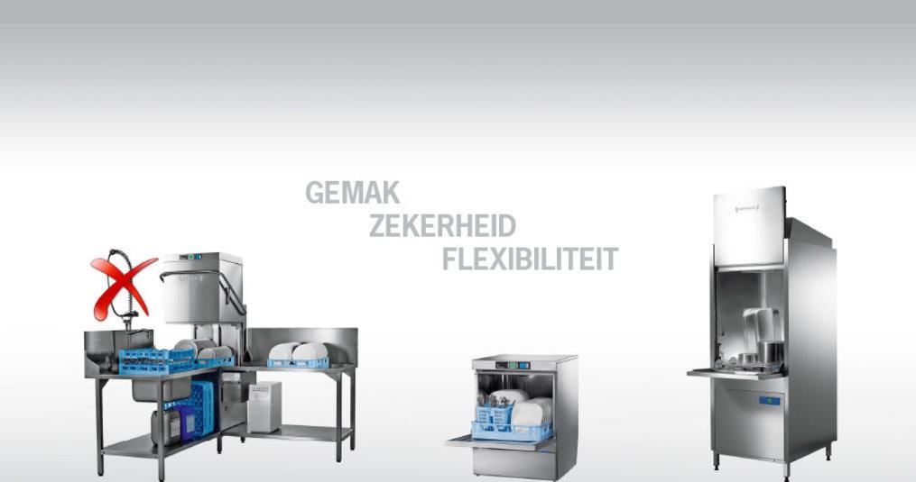 Lease (huurkoop) alle vaatwasmachines en glazenwasmachines - RENTEVRIJ