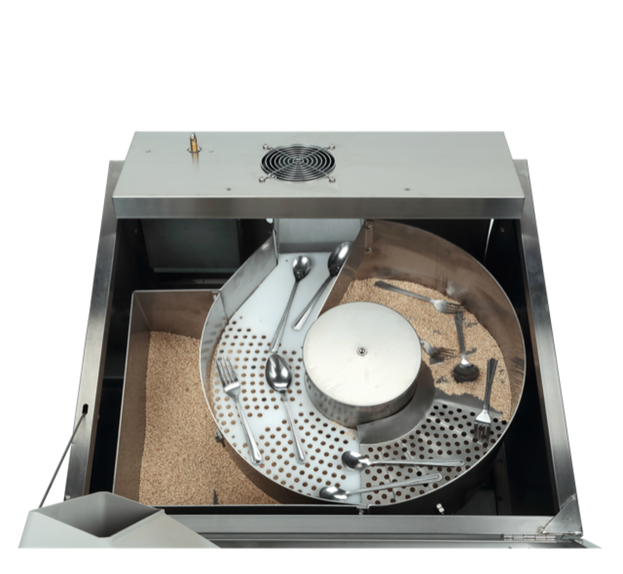 Corncob (granulate) cutlery polisher 25 kg € 10 per kilo