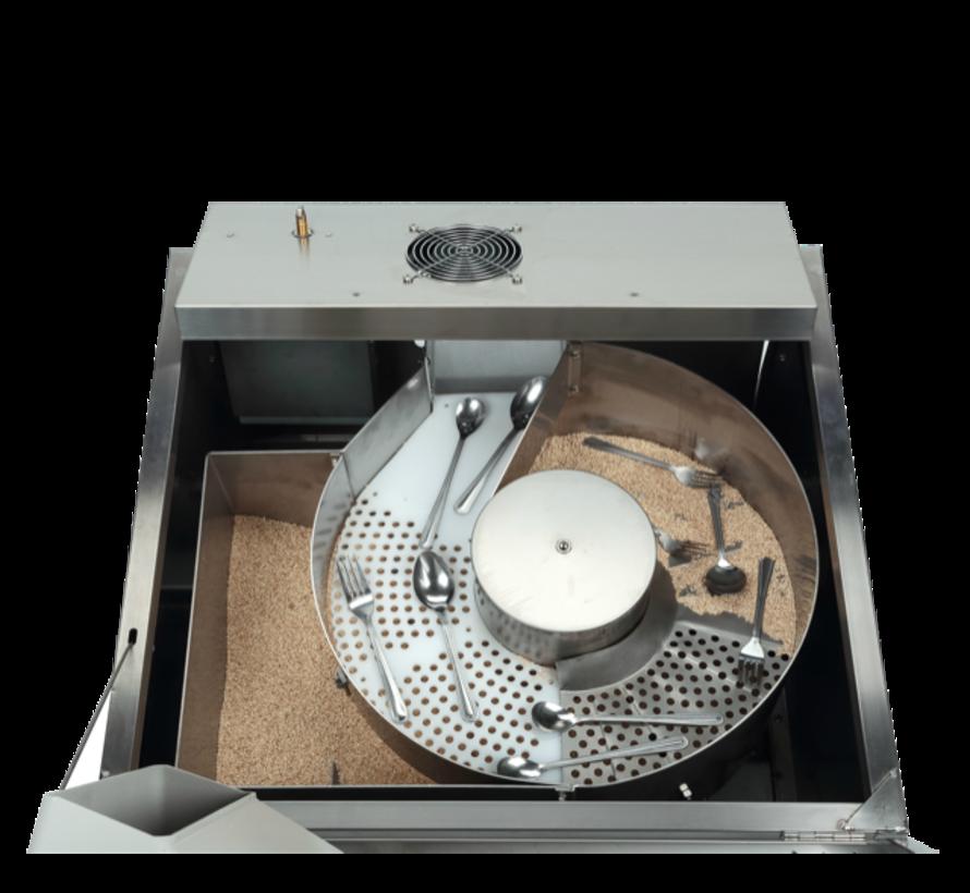 Mais granulaat bestekpoleermachine 25 kg € 10,- per kilo