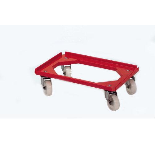 Chariot mobile pour bac de récupération des couverts