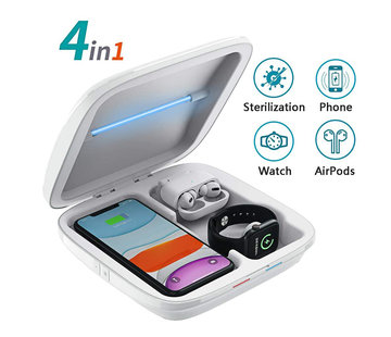 Phone sterilizer with wireless charger