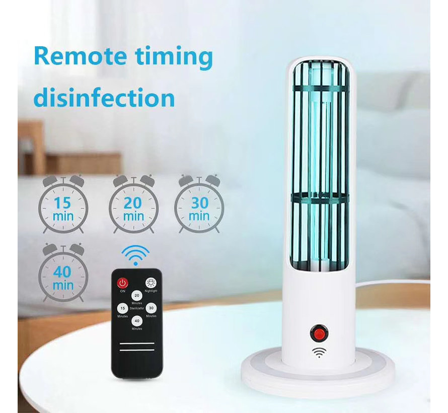 Two in a Disinfection lamp with remote control and timer
