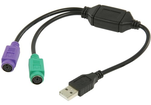 ValueLine VLCP60830B03 USB-A 2.0 Male - 2x PS/2 Female