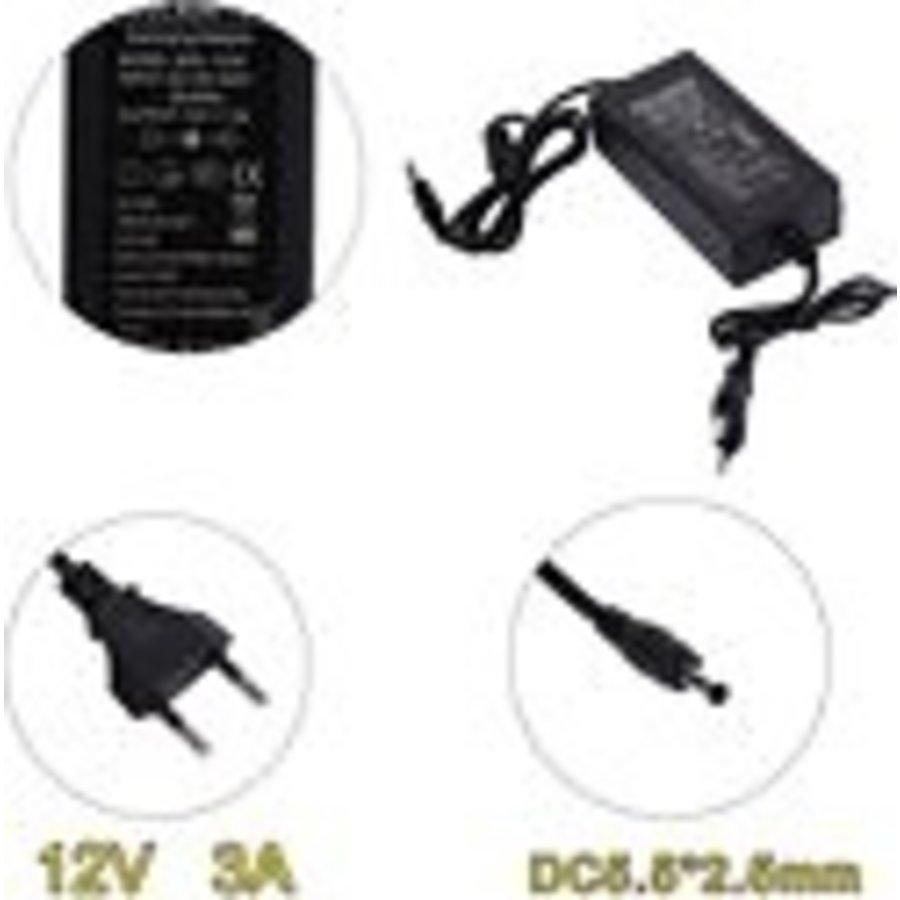 Decoder Adapter | 12v | 3a | geschikt voor Dreambox, Xsarius, Mutant, Zgemma, Amiko, Qviart-2