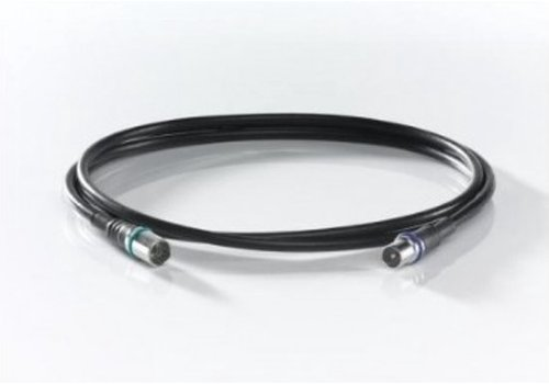 Wisi DS38U0150 coax kabel 1,5m   IEC female - F snel male   Zwart
