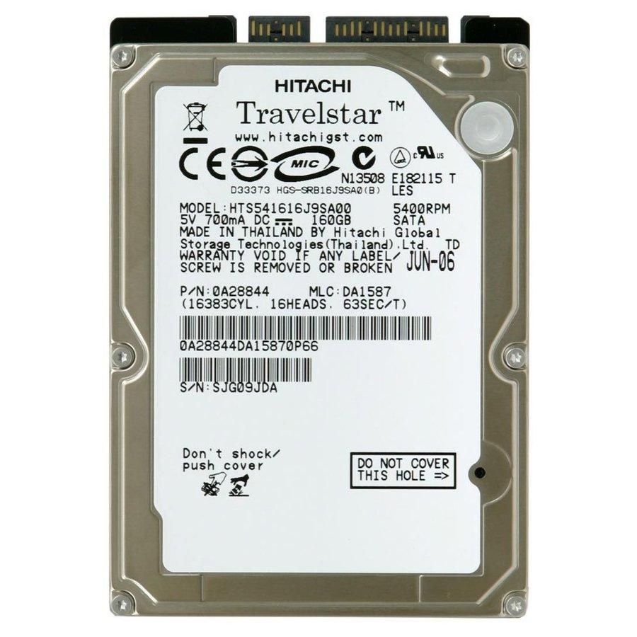 "Hitachi Travelstar 5K160 HTS541616J9SA00   HDD   SATA   160GB   2.5""-1"